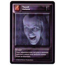 General Katana : Taunt